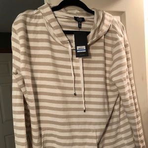 Hooded LS striped Tee